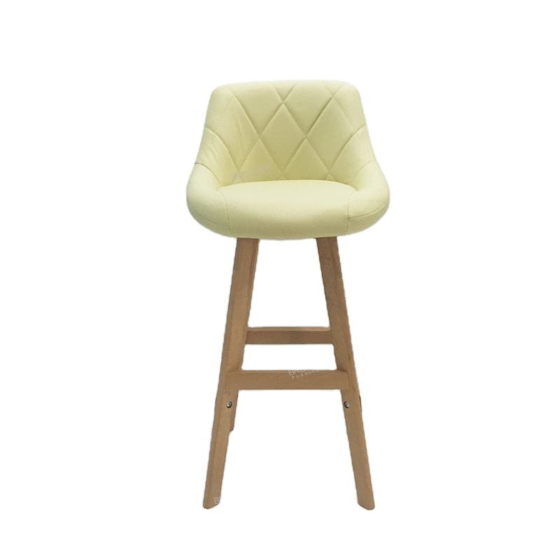 Bar Stool Bar Chair Modern Hot Selling Wholesale Antique Vintage Height White Leather Stools Wood Bar Chair