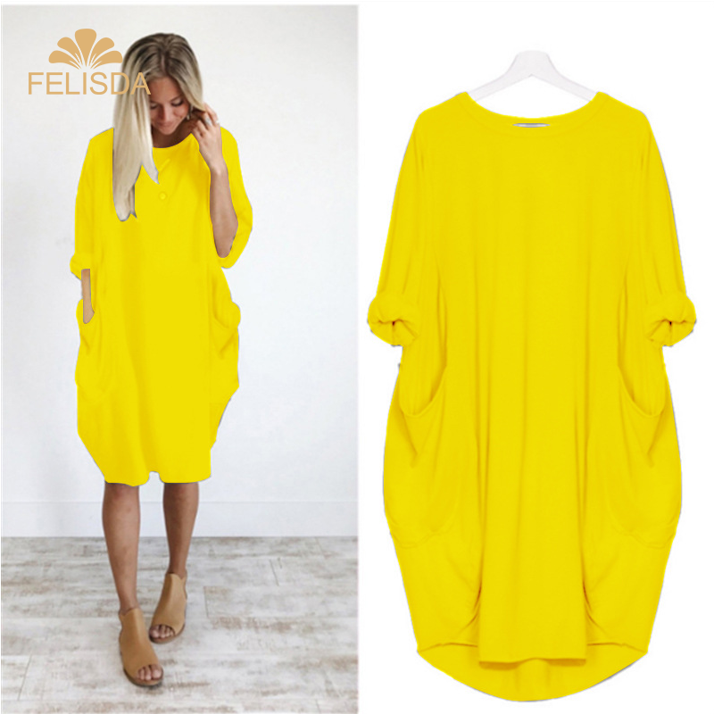 AliExpress New Hot 2020 Summer Dresses Women Clothes Casual Long Sleeve Big Plus Size Dress