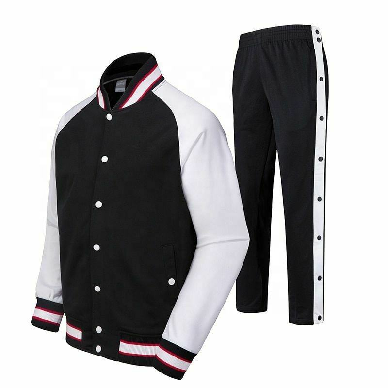 Men Basketball Jersey Competition Uniforms Suits Full Button Pants Sports Sets