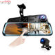 Zimtop front and back dual 1080P 10inch streaming media dual lens dash cam recorder car camera dvr with specail mount