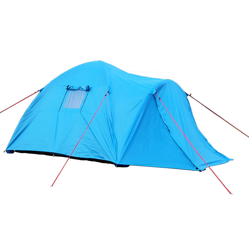 custom outdoor waterproof 4 season 4 person inflatable TPU air pole tube family camping tent double layer
