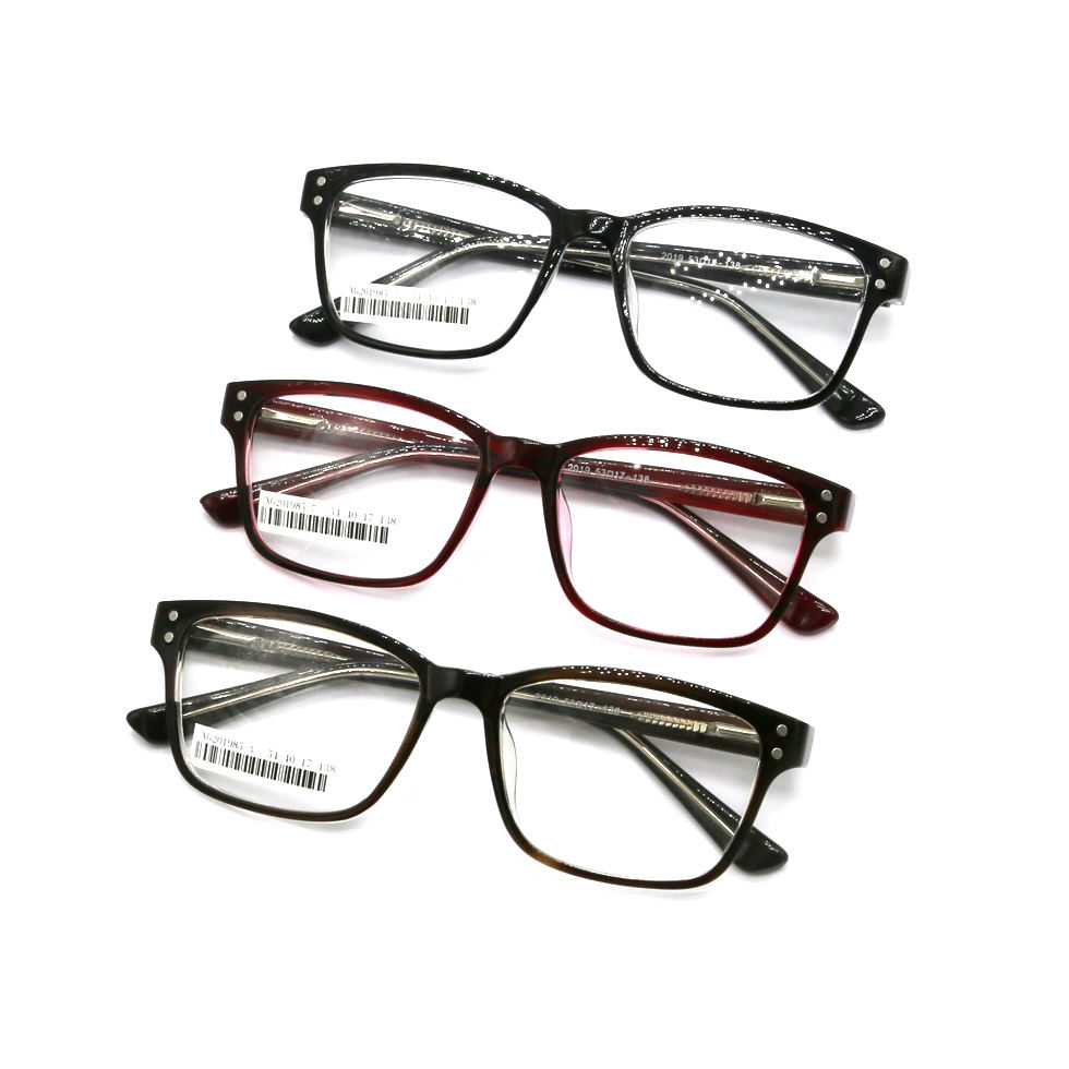 Square unisex plastic prescription spectacle frames optical, fashion glasses frames eyewear cheap optical frames manufacturers