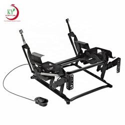 JKY Furniture Black Single Living Room Lazy Relax Manual Metal Steel Recliner Folding Mechanism  Parts For Chair And Sofa