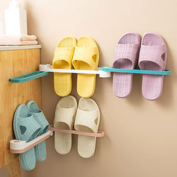 amazing Foldable Slippers Holder Shoes Hanger Wall Mounted H