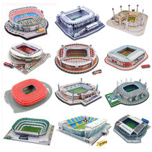 Children Educational Football Basketball Stadium DIY Assemble Model Toy Funny Wooden 3D Puzzle Toy