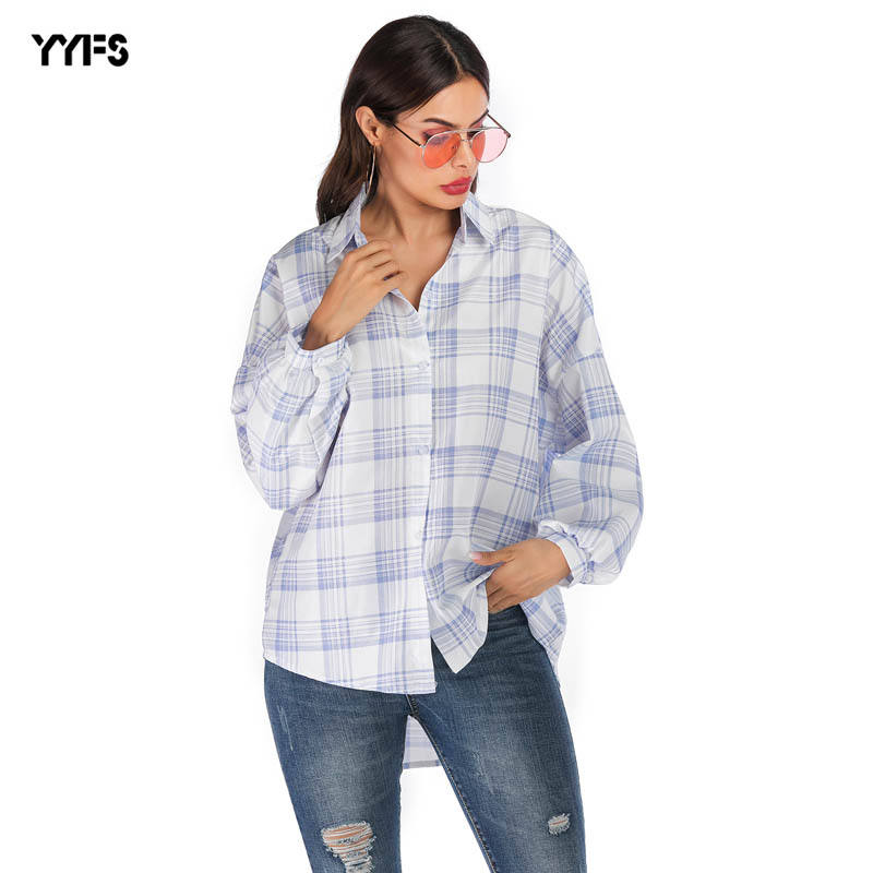 2020 loose simple women top clothes women long sleeve blouse wholesale