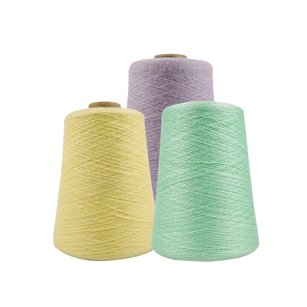 Wholesale core spun covering knitting blended acrylic yarn