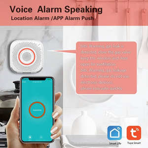 WiFi Smart Gas Leak Detector Propane Butane Methane Natural Gas Alarm Sensor Wireless Remote Controlled by Smartphone APP Work