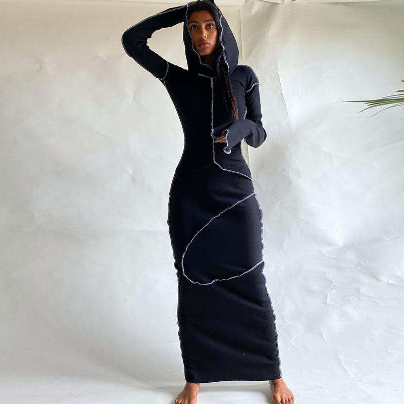 custom women clothing manufacturer small orders spring women casual long dress for tall women clothing