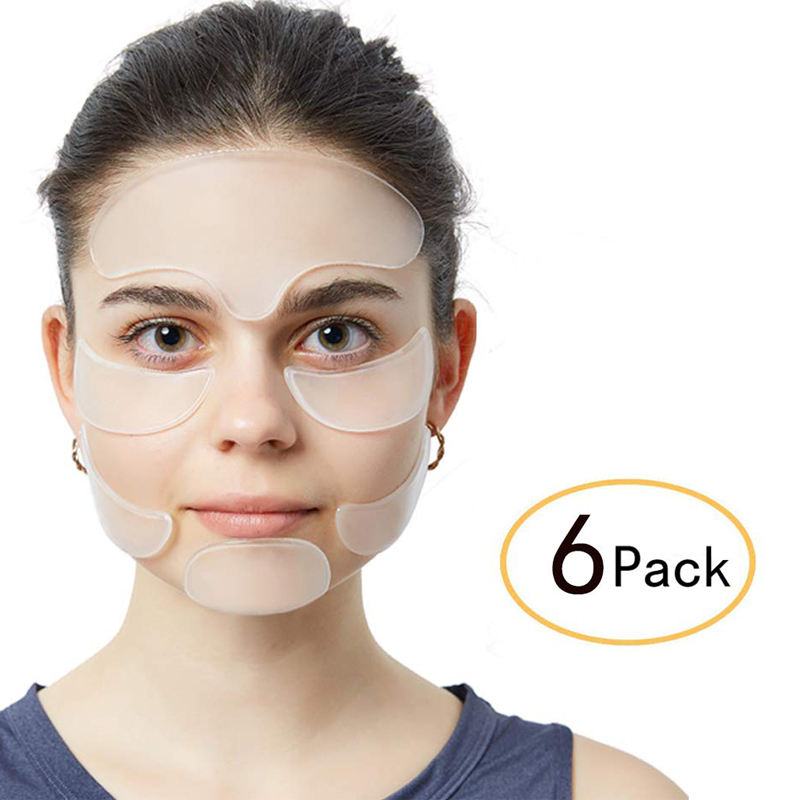 6PCS Overnight Thin Face Wrinkle Patches for Forehead Eye Mouth Chin Care