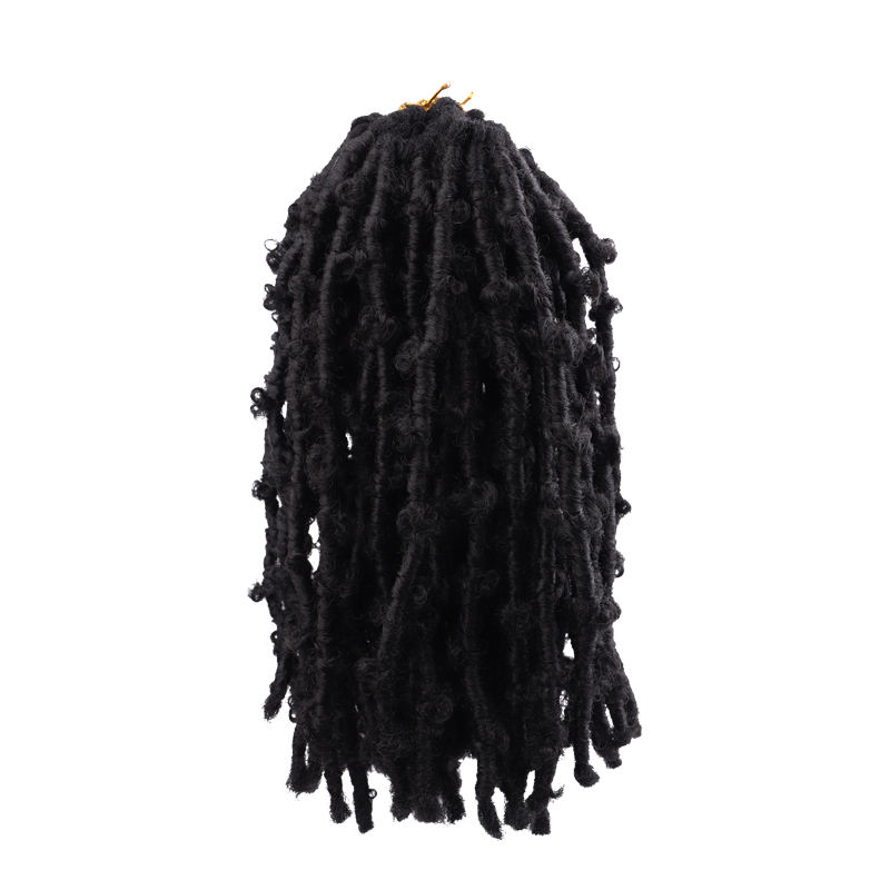 HOT Selling Butterfly Locs Manufacturer Synthetic curly locks Goddess faux locs crochet braids hair extension curly locks curl