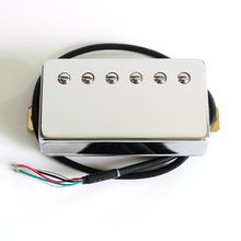 OEM Vintage wax potted AlNiCo PAF style Lp Guitar Pickup with chrome brass cover and 4 word output wire