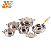 New Style Cooking Pot Cookware Set Cookware Stainless Steel Pans Sets Cookware