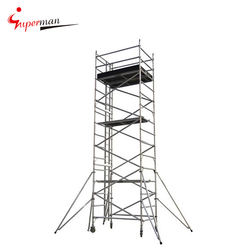 Promotional Price Multi-use Aluminum Mobile Scaffolding Tower System with Ladder and Caster Wheel