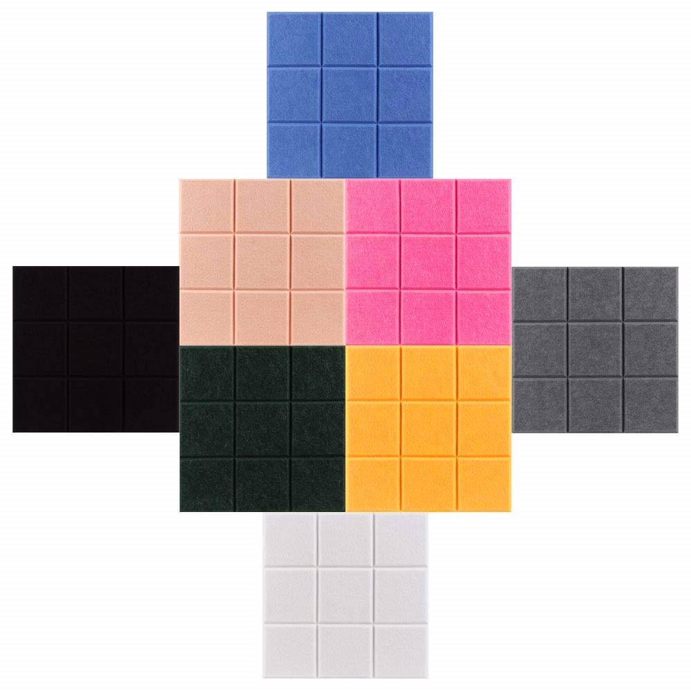 "11.8"" x 11.8"" Large Square Decorative Felt Pin Board Bulletin Board for office Wall tiles"