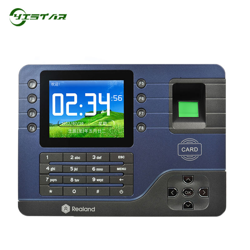 Realand A-C091 P2P Cloud Service Fingerprint Time Attendance With TCP/IP USB Fingerprint Time Recording Time Clock With Software