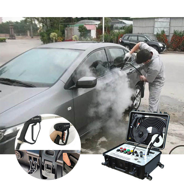 Optima mobile portable high pressure steam jet car wash
