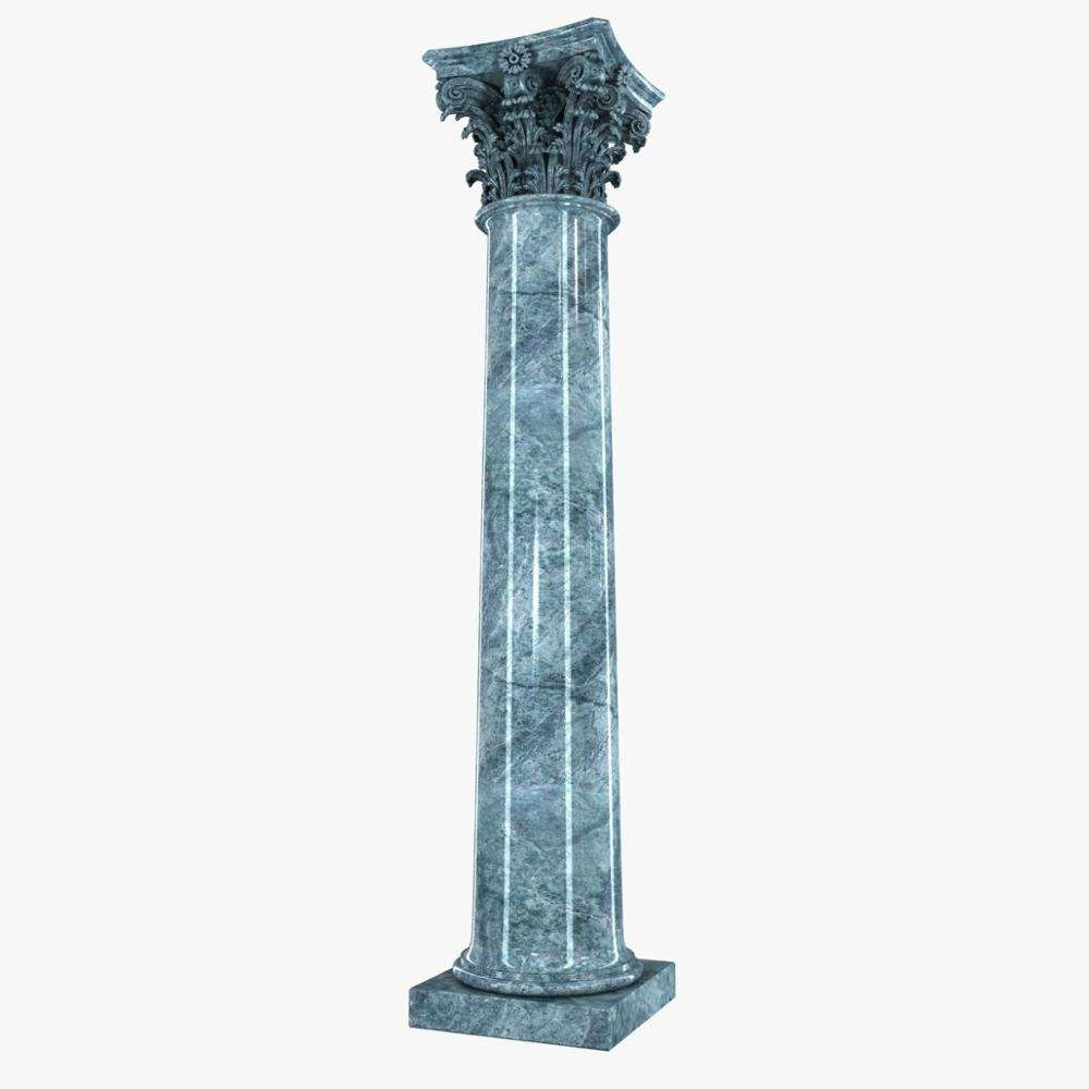 Giant Decorative Black Natural Marble Pillar for House