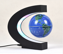 magnetic levitation globe , business birthday gift C-Shape LED World Map Floating Globe Tellurion Magnetic Levitation Light