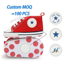 Custom MOQ 100 PCS Logo Brand Packaging OEM ODM Canvas First Walker toddler baby casual shoes