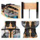 Gym Equipment Wooden Frame Home Cardio Exercise Wood Rowing Machine Bodystrong Fitness