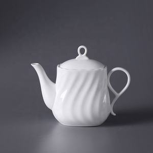 P&T porcelain factory tea pot, crokery pots, square shape coffee pots