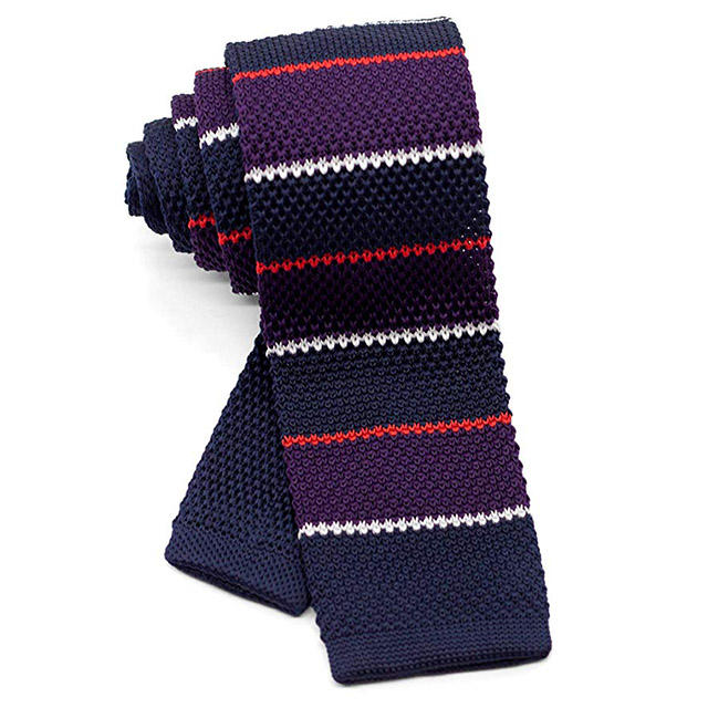 polyester Fabric Square men's Necktie knit Tie
