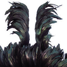 8-10inch Black color Rooster Tail Feathers, Bleach Coque Tails Feather Trim
