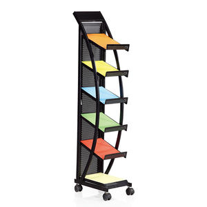High Quality Display Stand Floor Standing Store Magazine Floating Rack Metal Racks Multilayer Newspaper Advertising Book Shelf