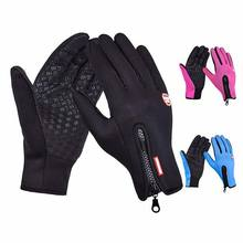 Men Women Winter Touch Screen Windproof Riding Ski Gloves Full Finger Warm Gloves