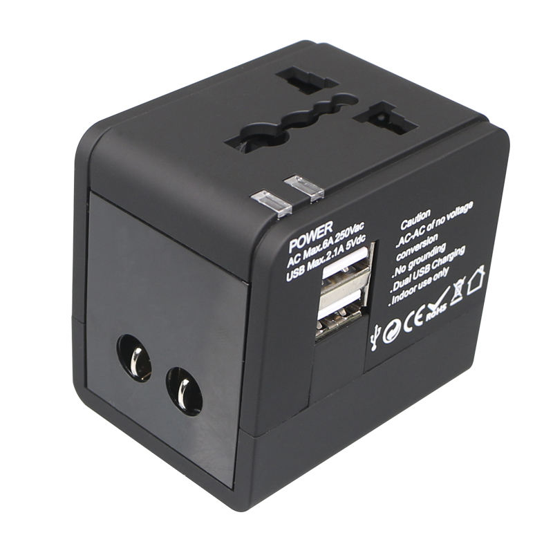 1A Travel Adapter Quick Solar Power Travel Adaptor Universal Converter Plug Free Charger for Laptops, Mobiles, Surface Pro