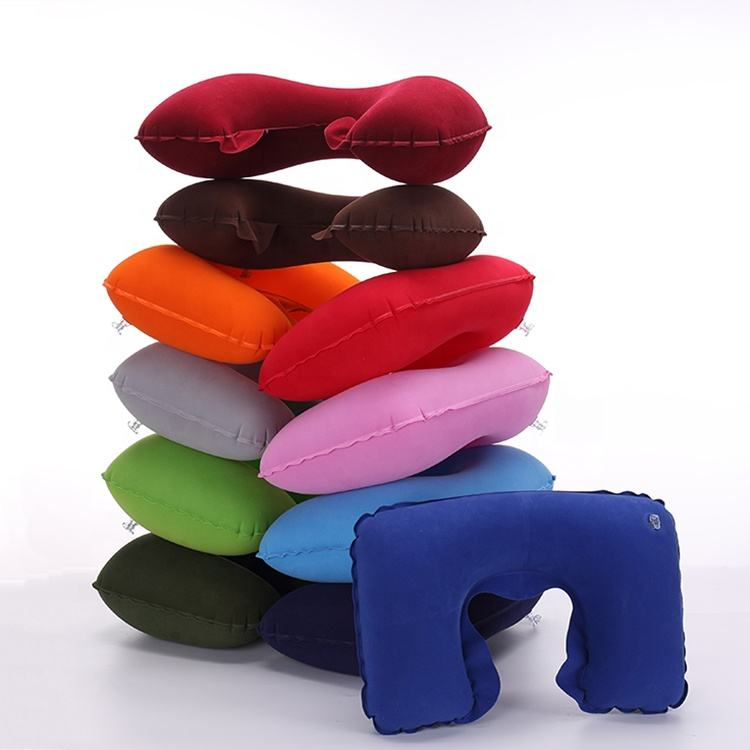Airplane U Shaped Inflatable Travel Neck Pillow