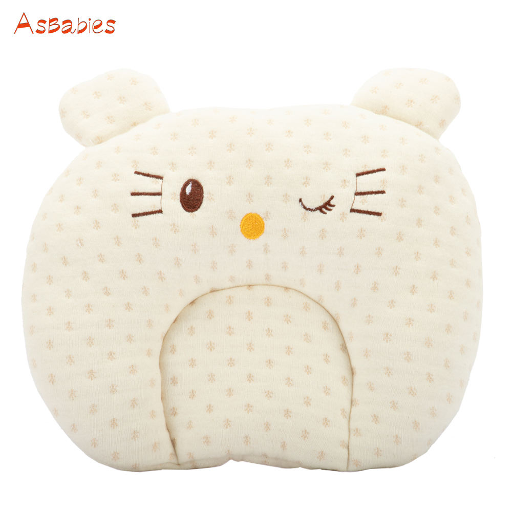 Asbabies #1912BP021 Newborn Baby Head Protective Pillow For Flat Head