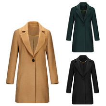 2020 Spring Autumn Winter Women Wool Cashmere Fabric Coat Long Sleeve Coat Elegant Coats