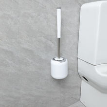 BOOMJOY B7 amazon best seller wall hold silicone round toilet brush with holder