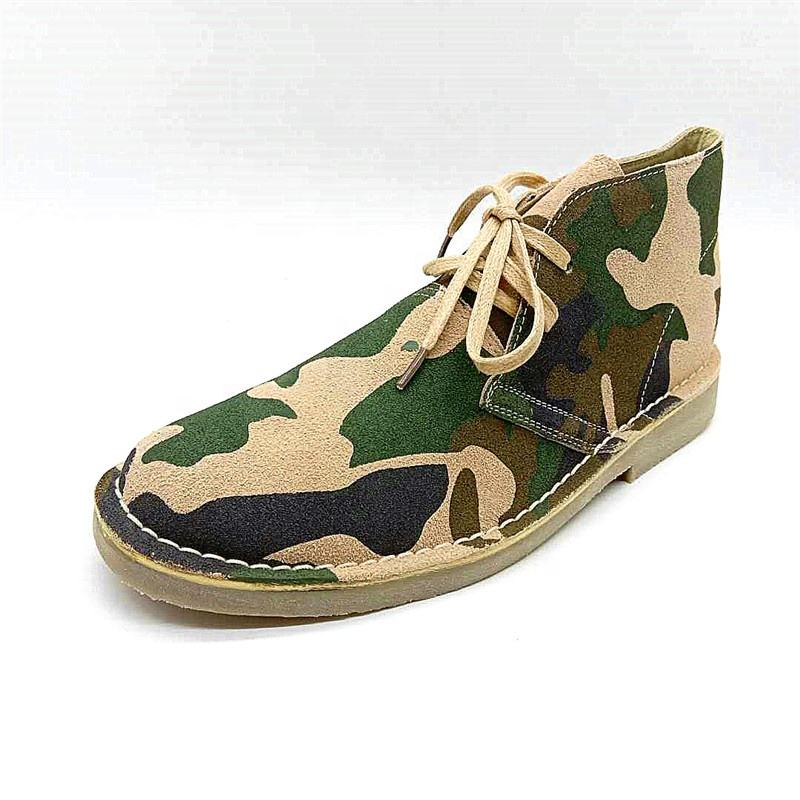 Mens Shoes Casual camouflage Suede Leather cheap price stock Men desert boots for England style