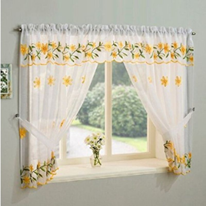 latest ready made sale fashion designs kitchen window curtains