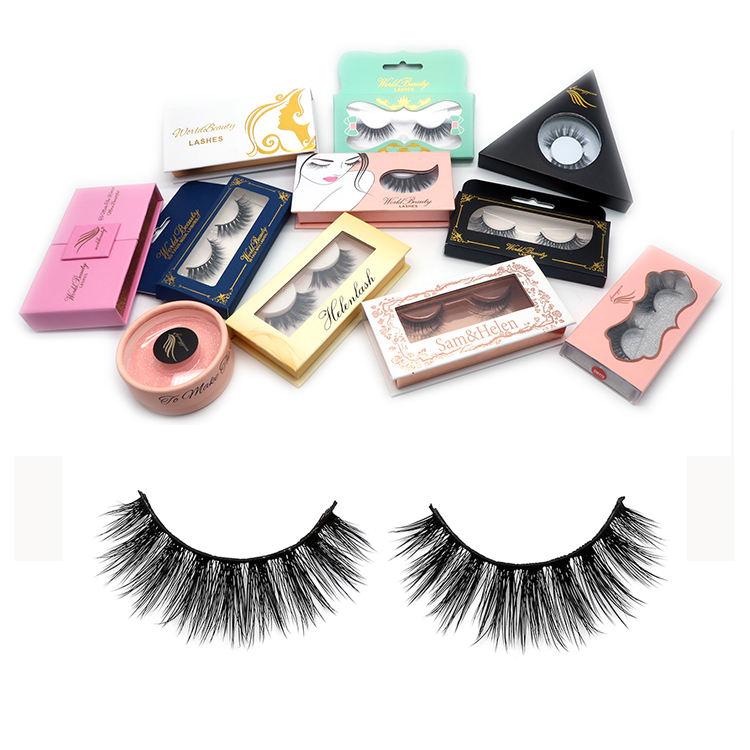 Worldbeauty Manufacture Faux Mink Eyelashes and wholesale eyelash packaging Private Label