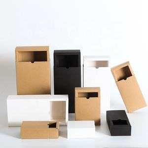 Recycled Custom Delivery White Kraft Carton Storage Gift Packaging Paper Boxes With Lower MOQ