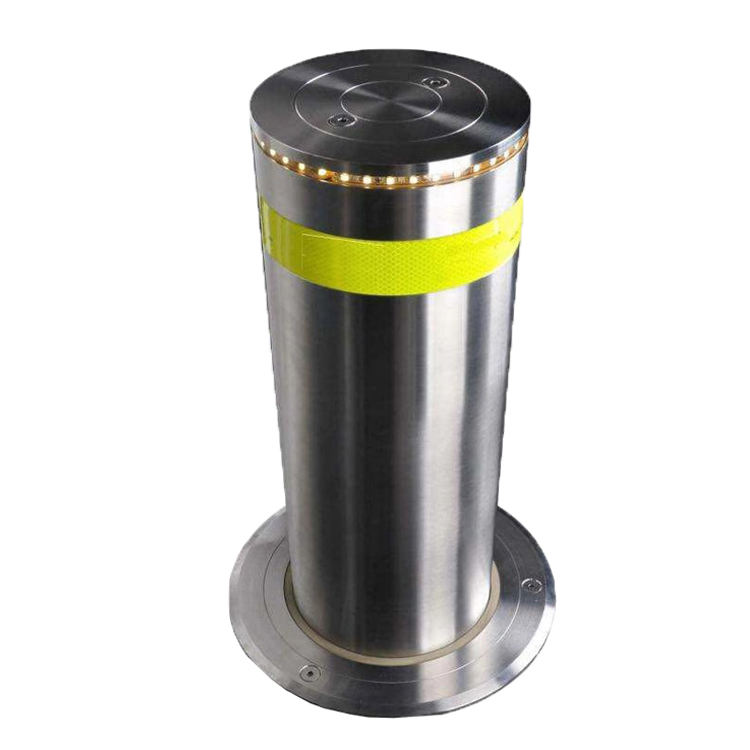 Semi-Automatic Rising Bollard Manual Retractable Bollards Vehicle Control Security Post