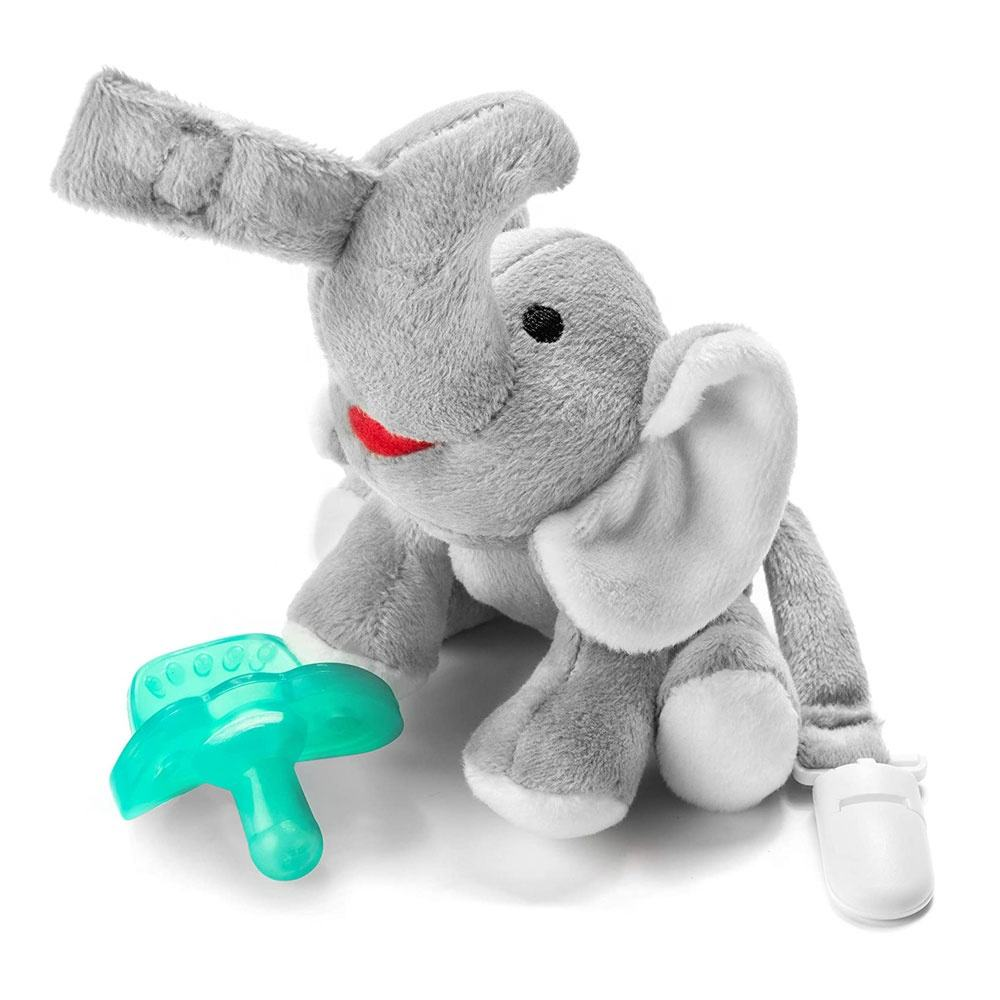 BPA Free Stuffed Elephant Pacifier Holder Clip Cute Baby Pacifier