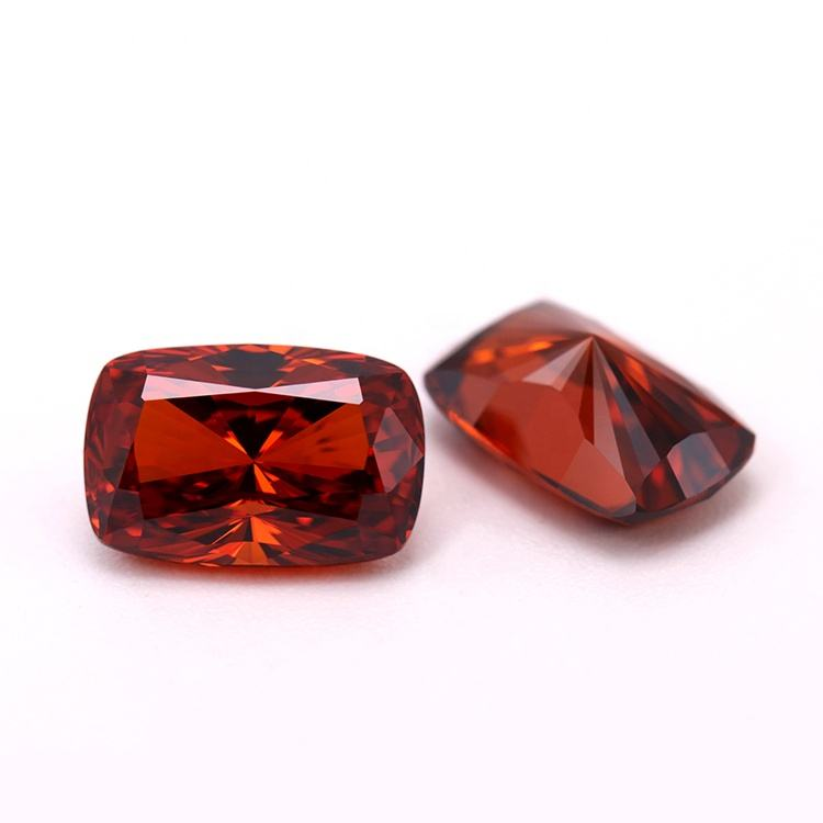 6*9mm 5A synthetic gemstone cubic zirconia radiant cushion cut red garnet stone for jewelry making