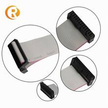 6 8 10 12 14 16 20 24 26 30 34 40 50 60 64 pin 1.27mm pitch idc connector grey flat cable assembly ribbon cable
