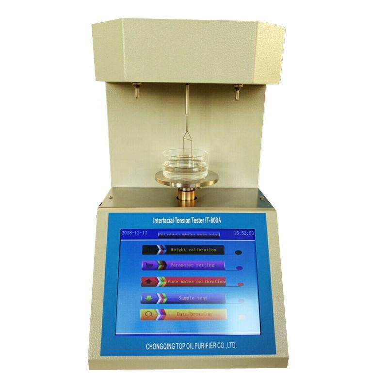 Platinum ring method ASTM D1331 surface-active agents liquid plating solution surface tension meter