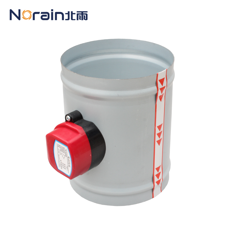 Galvanized round silica gel seal zero leakage electric wind valve air flow control valve