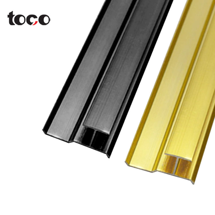 toco Aluminium Extrusion Flexible Black Edging Profile Finish Metal Corner Aluminum Copper Tile Trim