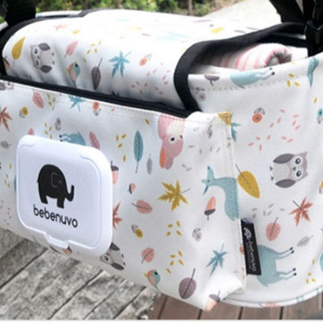 Unisex Design Felt Mother Care Organizer Hanging Baby Diaper Bag