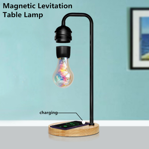 SFT wireless charging magnetic levitation table lamp creative floating led bulb night light for home decoration