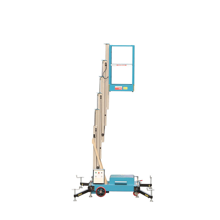 Portable 6m Vertical Hydraulic Lift Aerial Work Platform Car Aluminum Mast Lift Work Platform Truck