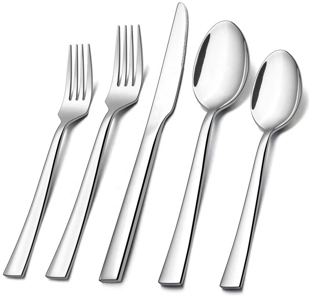 60-Piece Silverware Set, Stainless Steel Flatware Set Service for 12, Tableware Cutlery Set for Home Restaurant Party